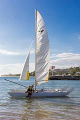 voilier dans le port de Saint Gilles, île de la Réunion