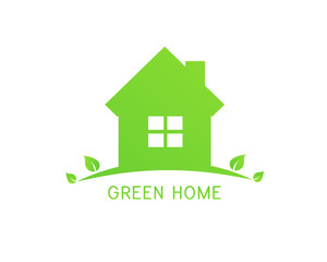 Green home design with leaves