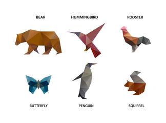 animal set of polygons
