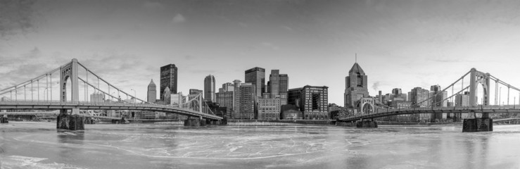 Wall Mural - Skyline of downtown Pittsburgh