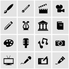 Vector black art icon set