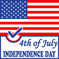 Independence day American flag background