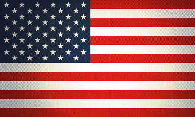 Flag of United States of America with mild texture