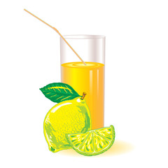 glass of lemon juice with a straw