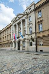 Croatian parliament in Upper town in Zagreb