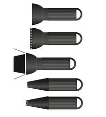 Fotostudio Symbole Grafiken Studioblitz Normalreflektor und Snoo