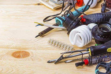 Electrician tools on the table