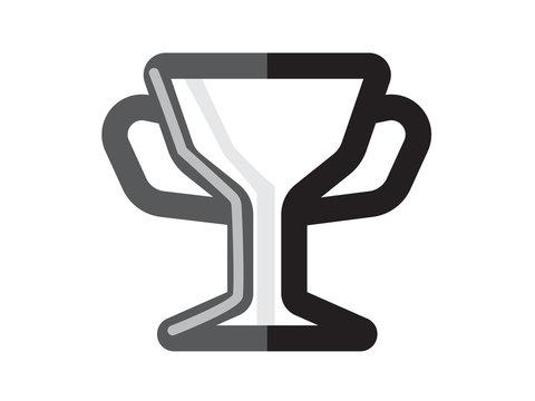 golden trophy vector symbol of the prize illustration