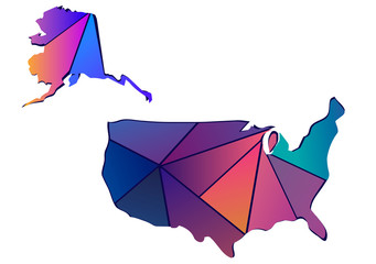 Map of America of pink triangles.