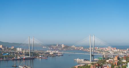 Vladivostok cityscape daylight view.