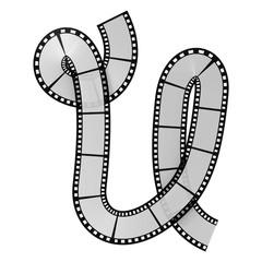 Film strip alphabet letter