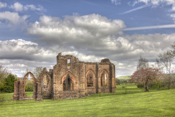 Lincluden Collegiate Church - South View Distant HDR