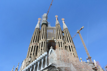 Sagrada Familia Basilica, Church of Barcelona, Spain