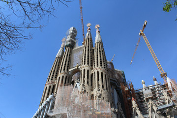 Sagrada Familia Basilica, Church of Barcelona, Spain