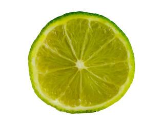 Limettenscheibe, freigestellt