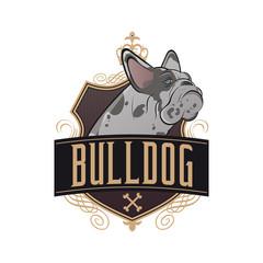 bulldogge hund wappen