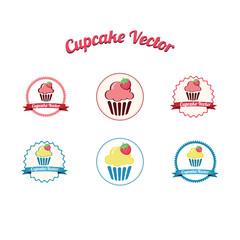 Cupcake logo vector set  Cakes