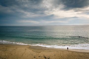 View of a beach in Laguna Beach, California.