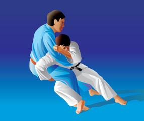 Vector illustration of judo