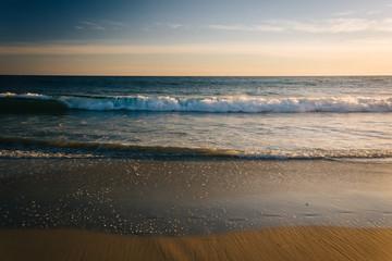 Waves in the Pacific Ocean in Laguna Beach, California.