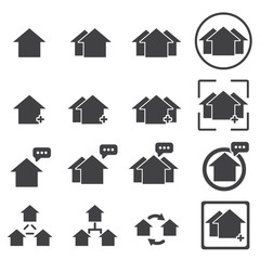 house icon building home vector