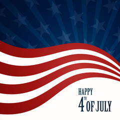 Vector Illustration of an Abstract Independence Day Background