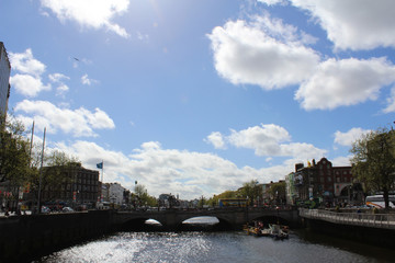 Dublin City and Liffey River, Ireland