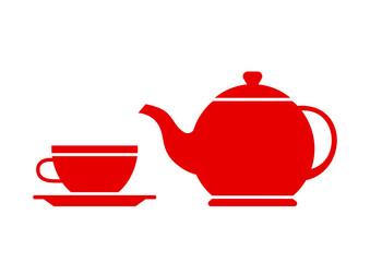 Tea vector icon on white background