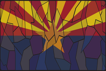 Arizona Stained Glass Window