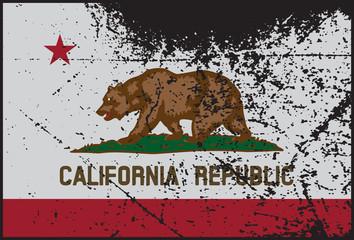 California Flag Grunged