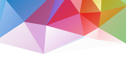 Polygon Colorful in White Background Wall mural