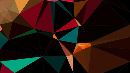 Abstract geometric polygon pattern with  triangle parametric shape