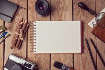 Notebook mock up for artwork or logo design