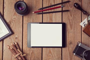Digital tablet mock up for artwork or app design presentation