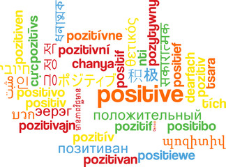 Positive multilanguage wordcloud background concept