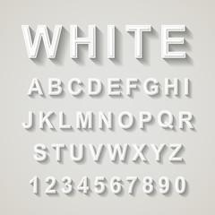 white font design set