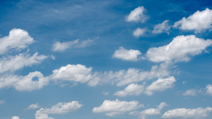 blue sky background with quaint  clouds