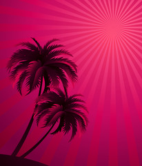 Vector sunset background