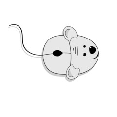 Computer mouse , vector illustration.