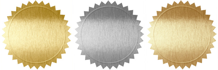 Set of various metal seals