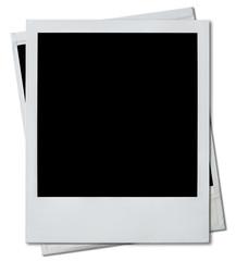 Two polaroid photo frames isolated on white