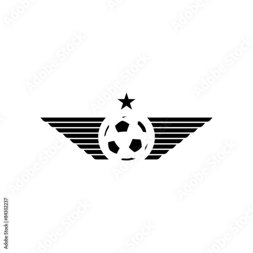 football or soccer ball mockup sport logo design tournament emblem