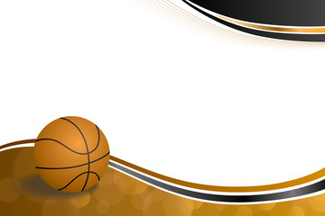 Background abstract orange black sport basketball ball