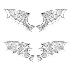 Vector Decorative Gargoyle. Patterned Design