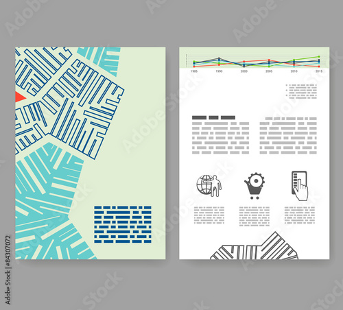 Booklet Layout Template | Flyer Leaflet Booklet Layout Editable Design Template A4 2 F