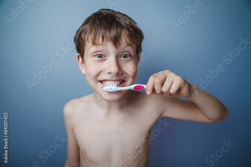 Teenager Boy 10 Years Of European Appearance Sick Stock