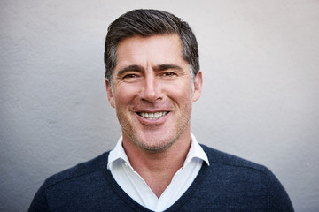 Portrait of an approachable mature man smiling