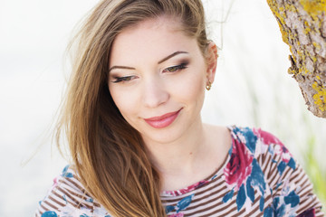 Pretty girl with nice makeup