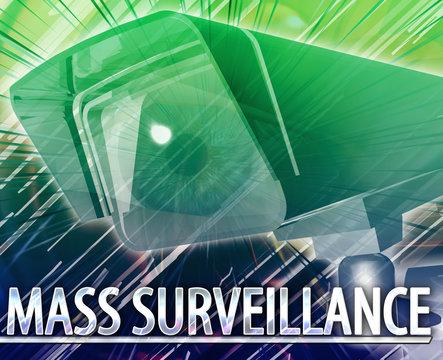 Mass surveillance Abstract concept digital illustration
