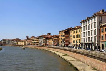Arno river bank in Pisa